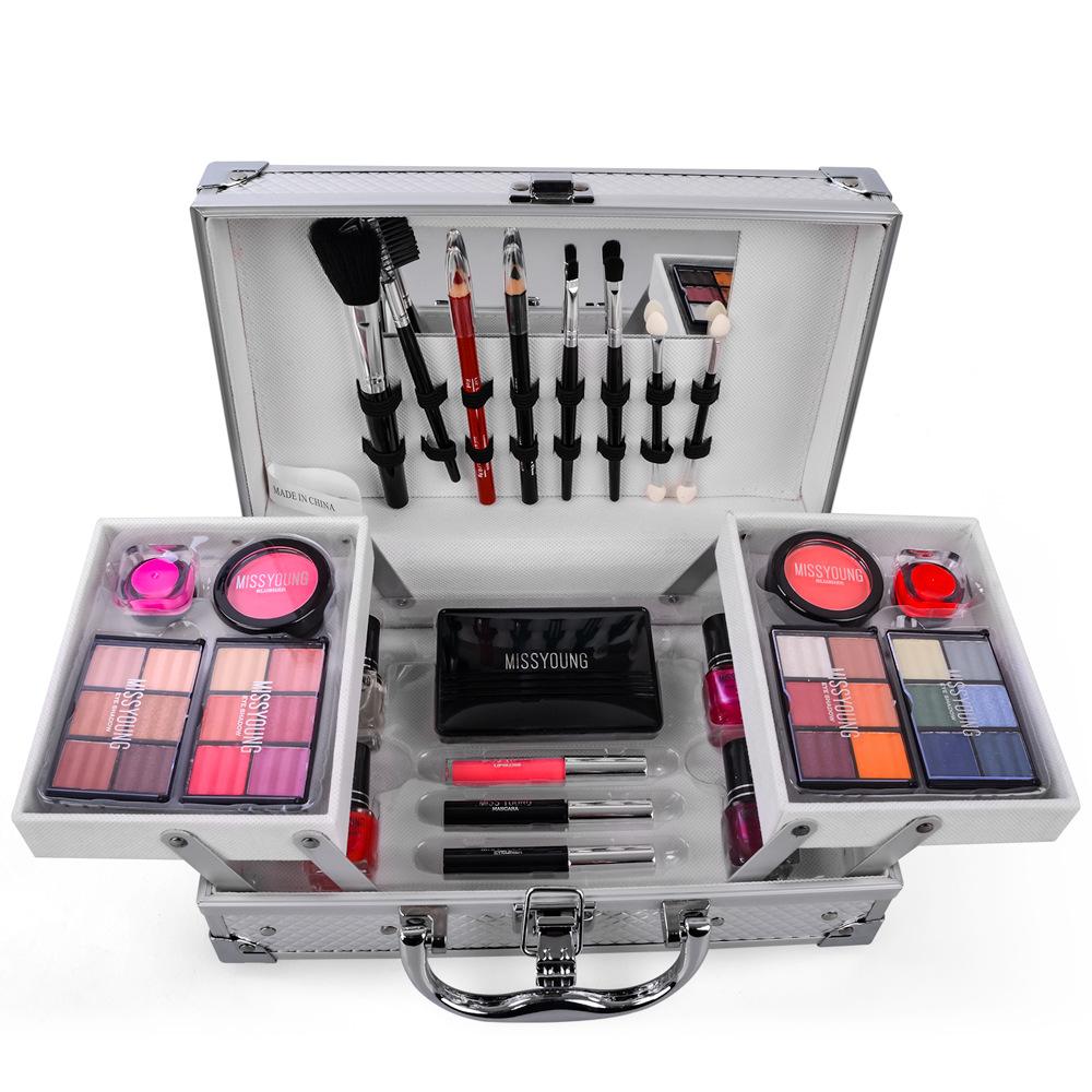 化妝套化妝套盒化妝套盒專業全套專業化妝套盒化妝套組婦女用口紅,化妝刷工具
