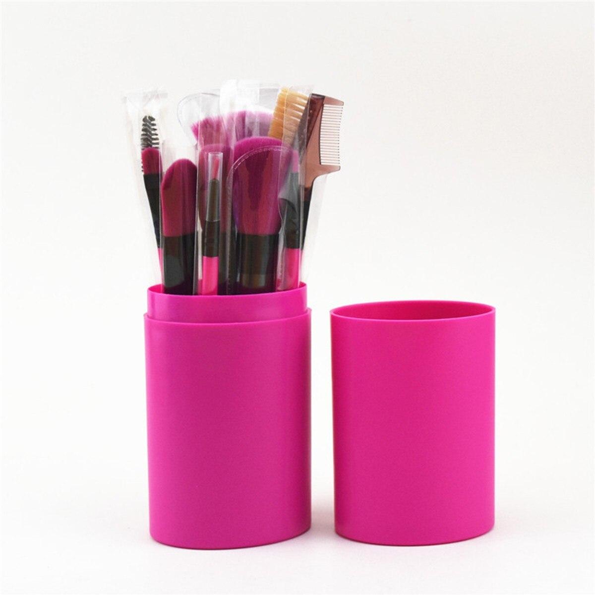 化妝刷盒裝12化妝刷腮紅刷粉底刷套裝工具化妝刷化妝刷遮瑕膏陰影化妝刷