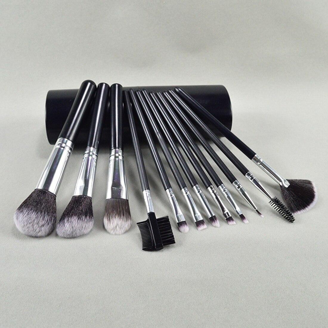 化妝桶刷套裝化妝美容化妝工具便攜式12腮紅刷粉底刷眼影刷化妝工具