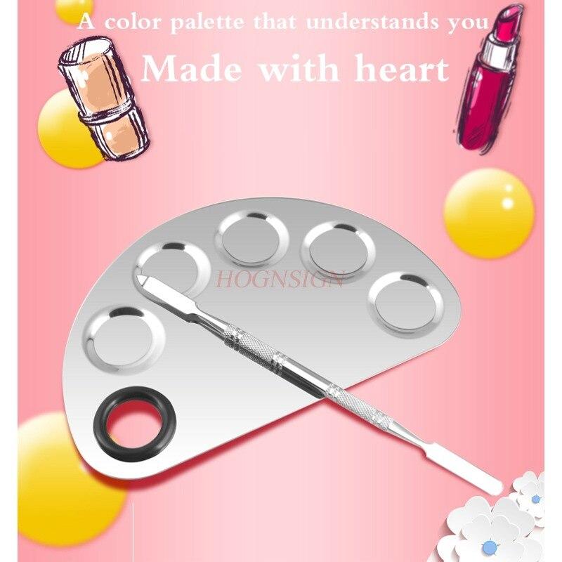 彩妝粉餅粉底液蜜粉餅彩妝指甲油不銹鋼碳粉彩妝盤