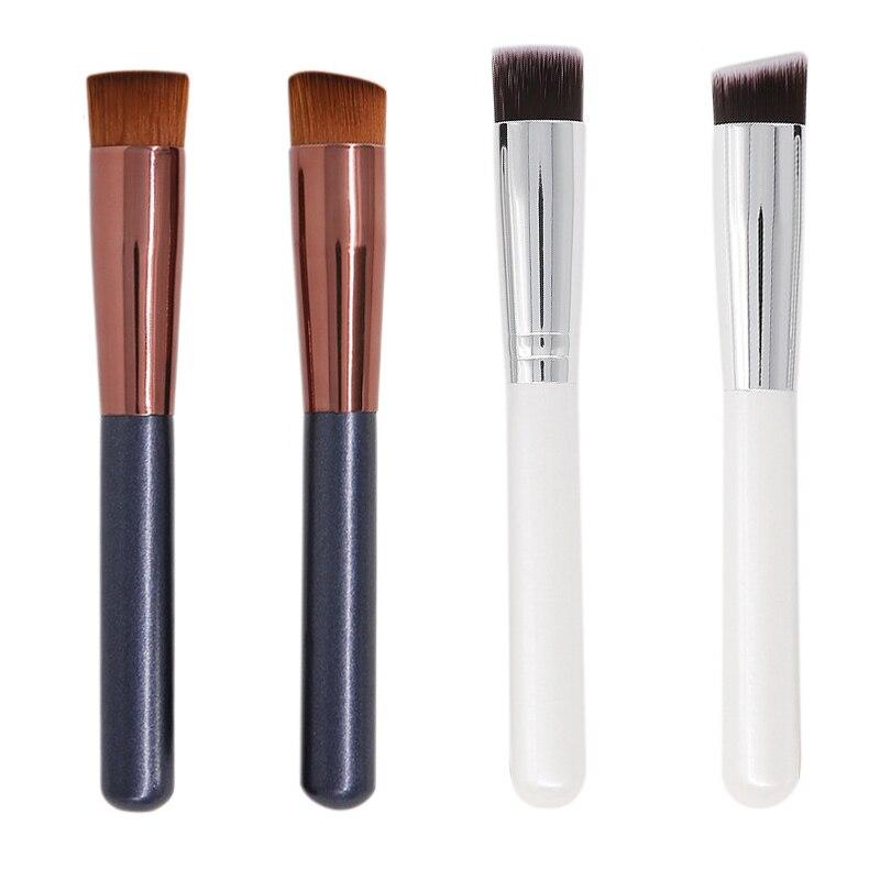 化妝刷BB霜化妝粉底液化妝刷多功能木柄平頭遮瑕刷化妝工具