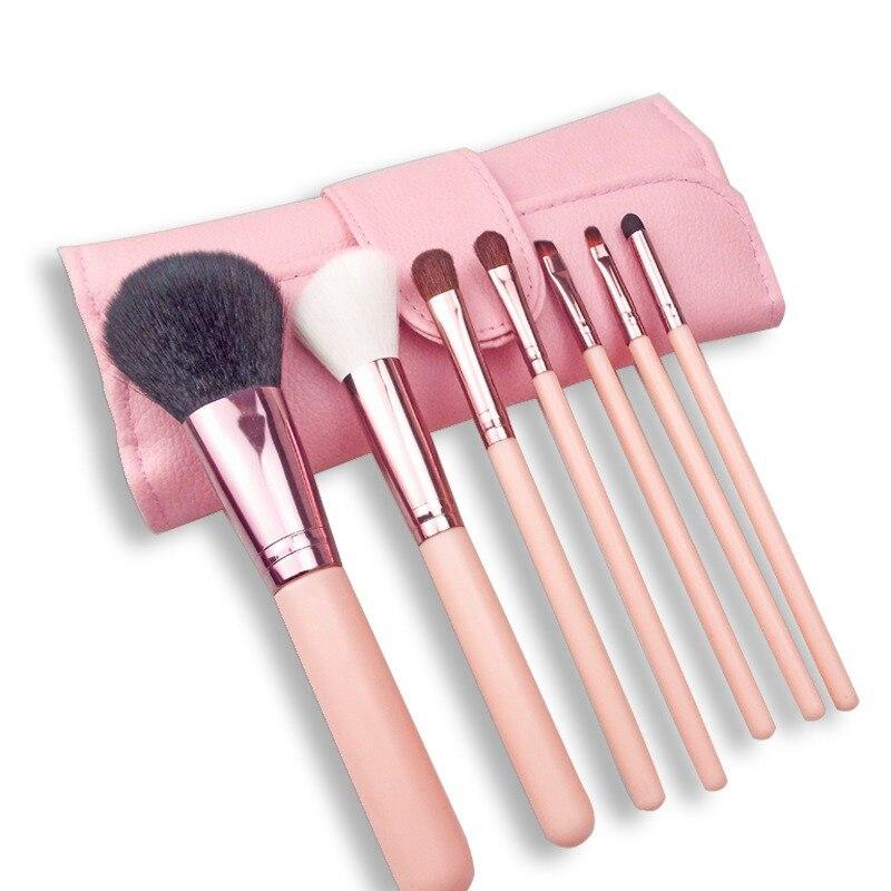 化妝刷7件/套用於化妝粉刷腮紅刷眼影刷化妝刷套裝化妝工具與化妝袋