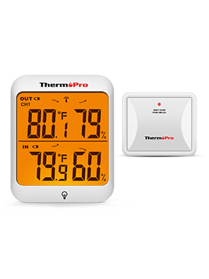 Touchscreen and Backlight Temperature Humidity Monitor