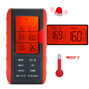 Alert and flash when temperature or timer are reached