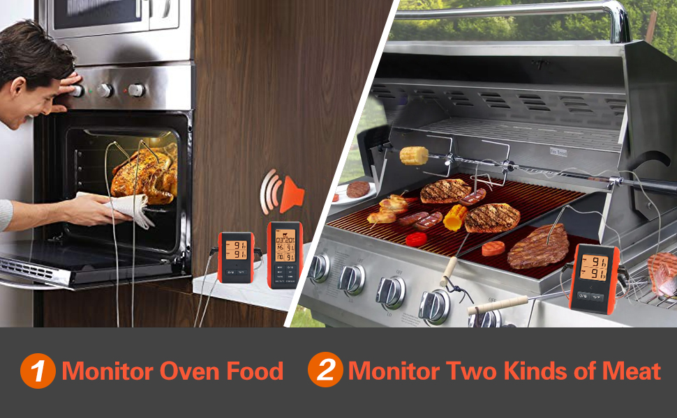 2. Monitor Two Kinds of Meat 3. Monitor Oven Food
