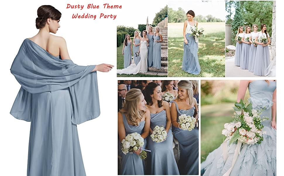 dusty blue shawl