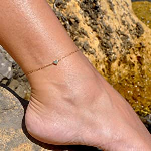 layered anklet for women