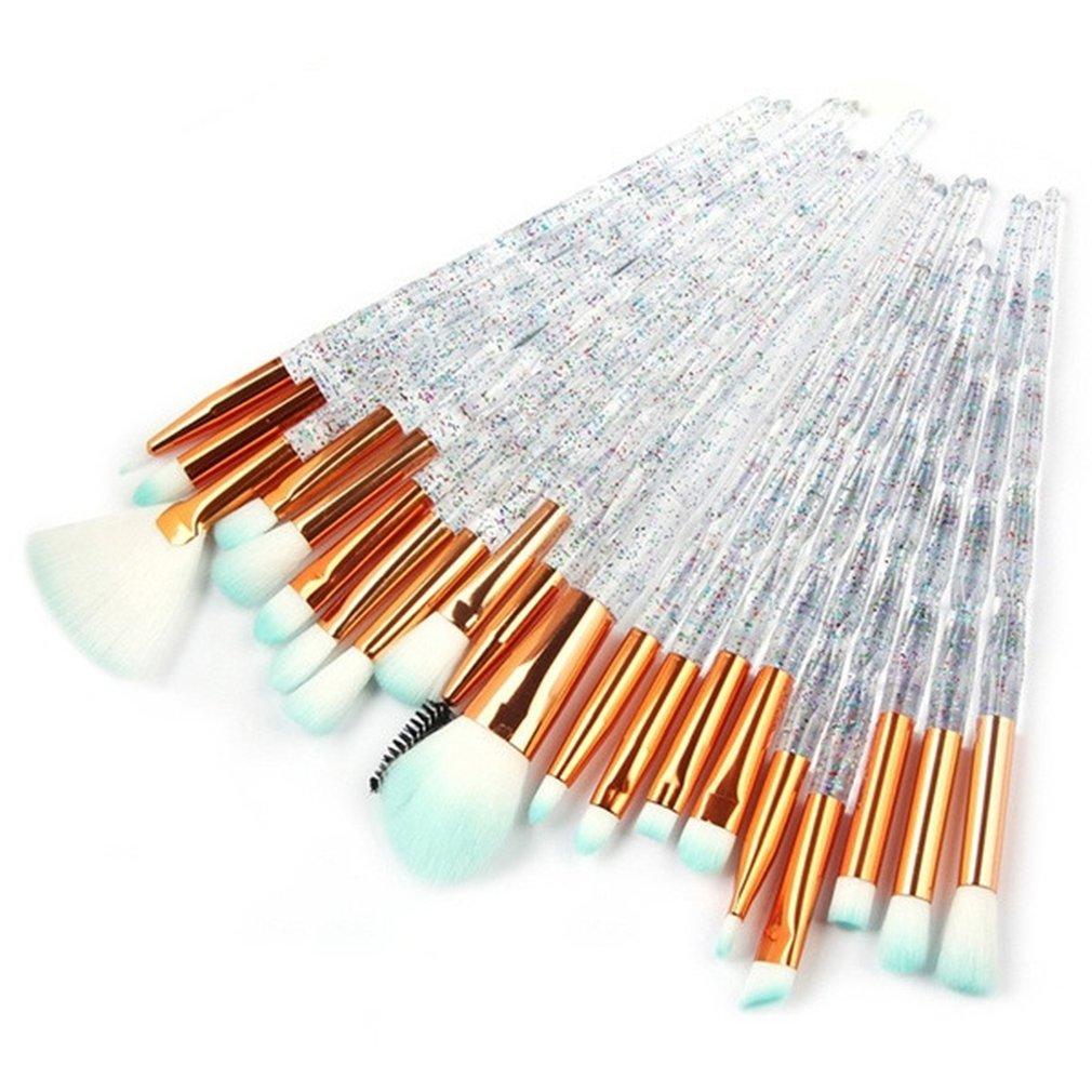 化妝刷遮瑕粉餅眼影化妝美容絲綢和柔軟工具化妝濃密異形閃光鑽眼部定型刷