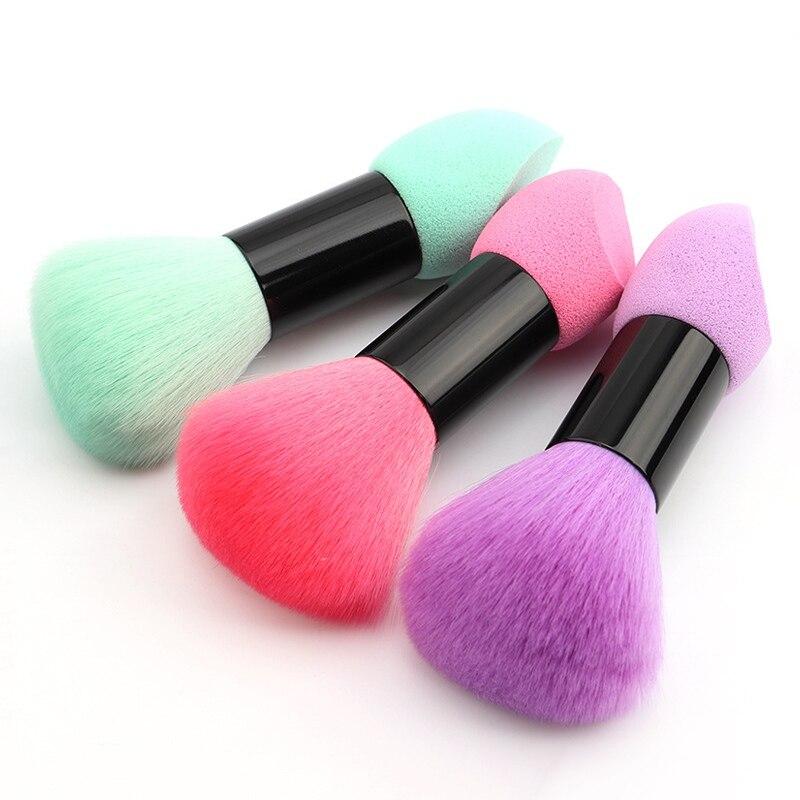 化妝便攜式雙頭化妝粉撲腮紅刷雙頭化妝刷海綿