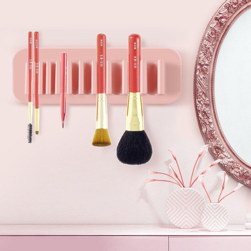 化妝刷展示架矽膠化妝刷晾衣架收納盒浴室牙刷架化妝刷收納架
