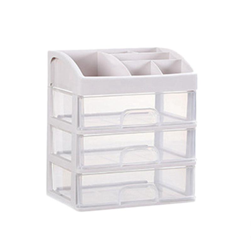 化妝收納盒抽屜化妝品收納盒首飾盒化妝盒化妝刷架家用收納盒收納盒