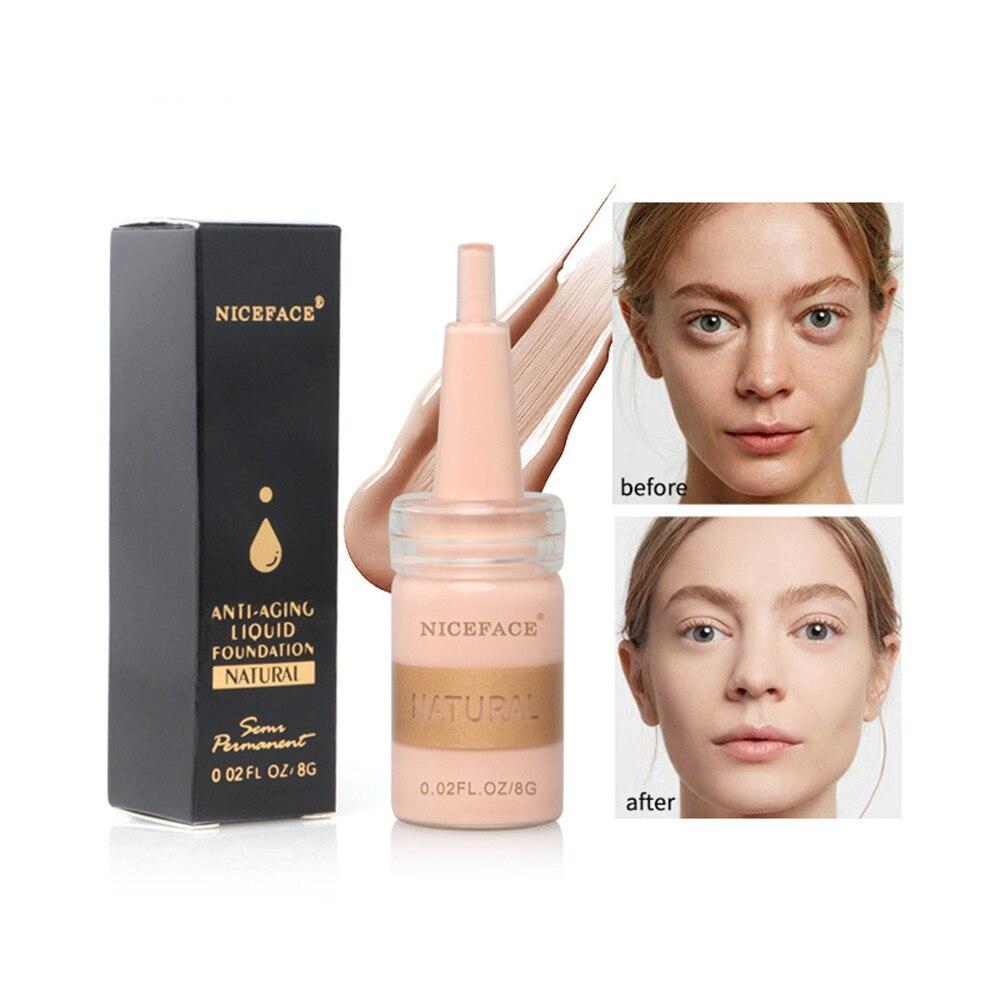 化妝基礎粉底液專業遮瑕粉底液化妝遮瑕霜防水天然化妝品工具