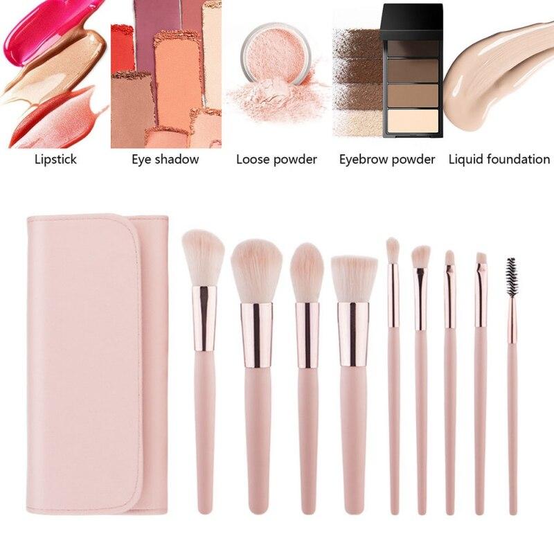 化妝刷9支專業化妝刷,可作為基本化妝品工具設置多種不同型號