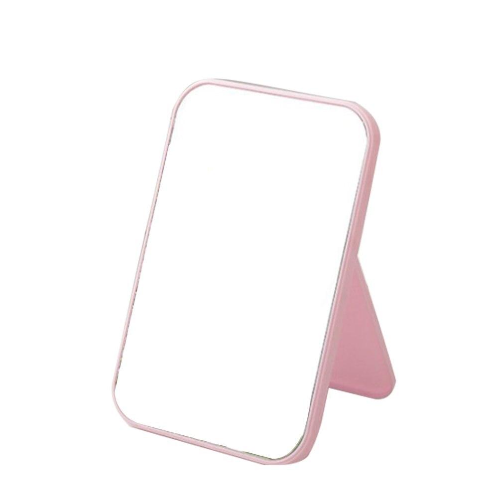 化妝鏡台式化妝鏡大號折疊便攜方形七彩公主化妝鏡熱銷