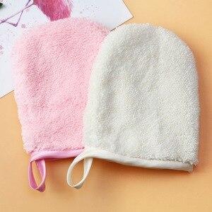 卸妝巾可重複使用的超細纖維面巾洗臉巾清潔手套工具化妝粉撲臉部護理