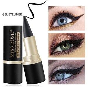 化妝啞光眼線筆持久防水眼線筆便攜式黑色化妝工具配件,適合所有皮膚類型