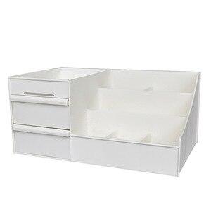 化妝收納盒兩層珠寶盒化妝品收納盒化妝盒口紅化妝收納浴室桌收納盒