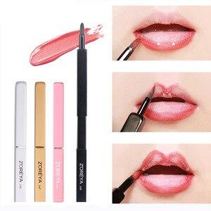 化妝刷便攜式伸縮式唇刷唇膏光澤度化妝刷工具白色/金色/黑色/粉紅色人造纖維化妝刷