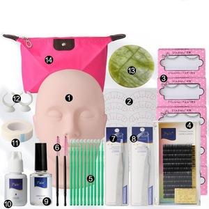 化妝工具假睫毛加長膠水工具嫁接睫毛工具套裝全套人體模型培訓化妝練習套件化妝
