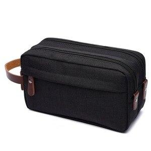 化妝盒旅行帆布化妝品化妝收納袋女士化妝包美容師美容盒男士化妝包
