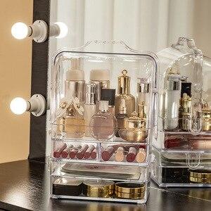 化妝收納袋便攜式旅行化妝箱防水化妝洗漱用品化妝化妝品珠寶首飾收納盒帶抽屜