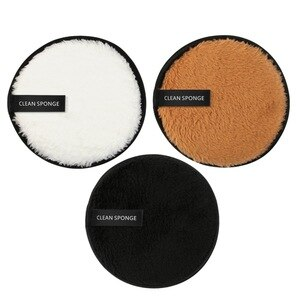 卸妝液雙面化妝品粉撲可水洗的卸妝粉撲海綿粉撲柔軟的面部清潔化妝工具