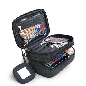 化妝包女士手提化妝包高品質專業時尚旅行化妝手提箱收納盒化妝盒小袋包