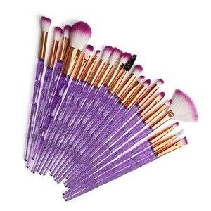 化妝刷子遮瑕粉餅眼影化妝美容絲綢和柔軟工具化妝濃密形閃光鑽眼部定型刷