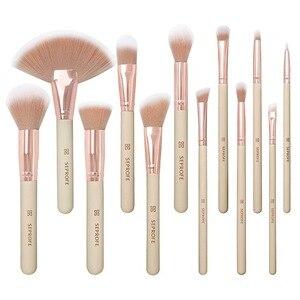 化妝刷12PCS專業化妝刷套裝尼龍毛木柄化妝刷基礎眼影刷美容化妝工具