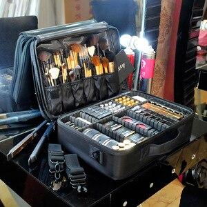 化妝袋化妝盒多層化妝袋防水牛津布專業化妝盒化妝收納袋旅行洗漱袋