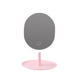 化妝鏡5倍放大鏡LED化妝鏡(帶LED燈)3種模式按屏幕化妝鏡