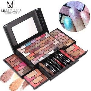 化妝盒專業專業化妝工具箱化妝刷女士眼影調色板腮紅粉啞光唇膏化妝盒套裝