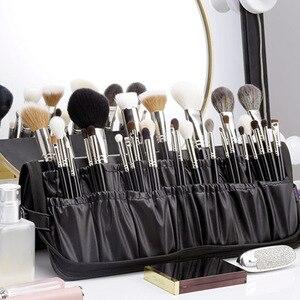 女士化妝包化妝師專用化妝包便攜式化妝刷包收納袋大容量化妝可折疊