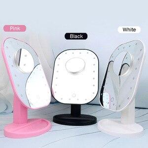 化妝鏡LED燈觸摸屏化妝鏡10X台式桌面檯面明亮的可調節USB電纜或電池工具