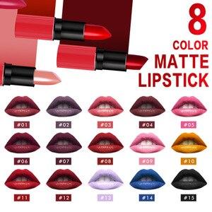 化妝啞光唇膏化妝專業胭脂防水20色天鵝絨唇膏棒持久棒化妝品美容唇