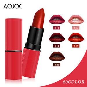 化妝20色嘴唇化妝唇膏唇彩啞光唇膏防水持久保濕化妝品唇膏紅色的嘴唇