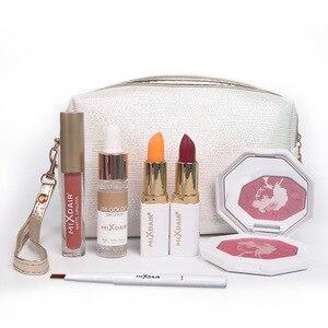 化妝套袋專業化妝全套手提箱化妝工具包女士啞光唇膏唇蜜化妝刷高光粉刷套裝