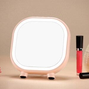化妝鏡,LED化妝鏡,帶接觸式調光器開關電池驅動藍牙立體聲鏡子禮品檯燈臥室家居