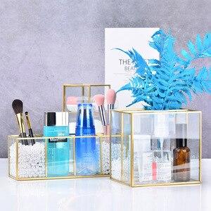 化妝收納盒多格透明化妝收納盒唇膏指甲油鑽油收納盒化妝品首飾盒架