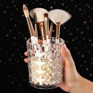 化妝刷收納盒化妝盒化妝桶筆筒塑料盒化妝刷眉筆架鑽石