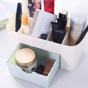 化妝品收納盒塑料化妝品收納盒大號化妝品收納盒指甲油收納盒拭子架浴室收納盒