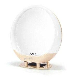帶燈和藍牙揚聲器的化妝梳妝鏡USB充電LED帶遙控的LED化妝鏡揚聲器
