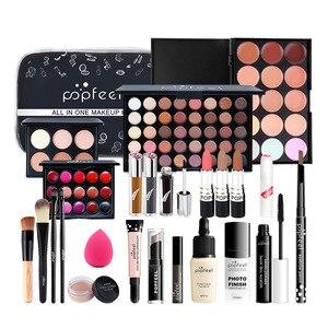 化妝套裝化妝品套裝眼影唇膏眉筆唇彩化妝刷粉撲化妝袋禮物