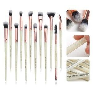 化妝刷套裝專業12件/批化妝刷眼影混合眼線筆睫毛刷化妝工具