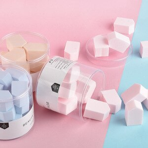 化妝海綿自然柔滑美容粉撲15入五角形粉撲海綿楔形化妝海綿化妝粉底液Y610