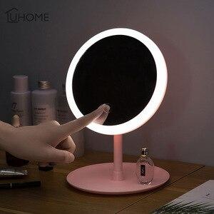 化妝鏡3種模式的LED日光鏡,帶化妝收納盒,用於化妝品架,台式珠寶,指甲油,化妝容器
