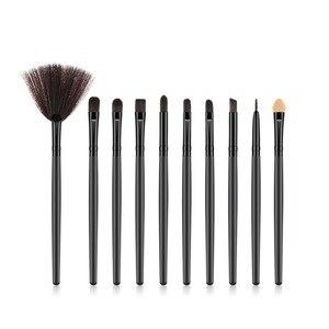 化妝刷10 / 15pcs眼部化妝刷套裝眼影刷眉刷睫毛刷風扇刷化妝工具