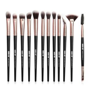 化妝刷套裝專業12支/批化妝刷套裝眼影混合眼線筆睫毛眉刷化妝工具
