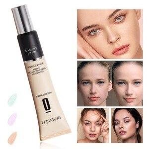 底妝粉底霜可提亮隱形毛孔,持久持久自然裸妝底霜遮瑕粉底霜妝容。