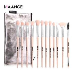 化妝刷全新12支眼部化妝刷,帶化妝袋套裝,眼影混合,用於化妝美容工具套件